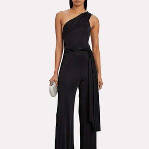 Alexis Parson One-Shoulder Black Jumpsuit, XS, NWT